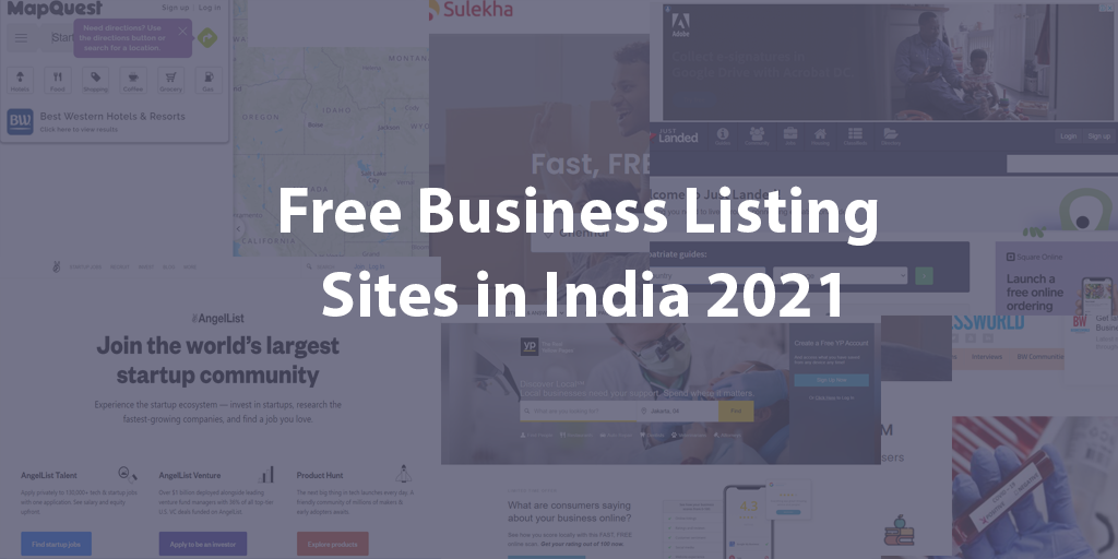 Free Business Listing Sites in India 2021: