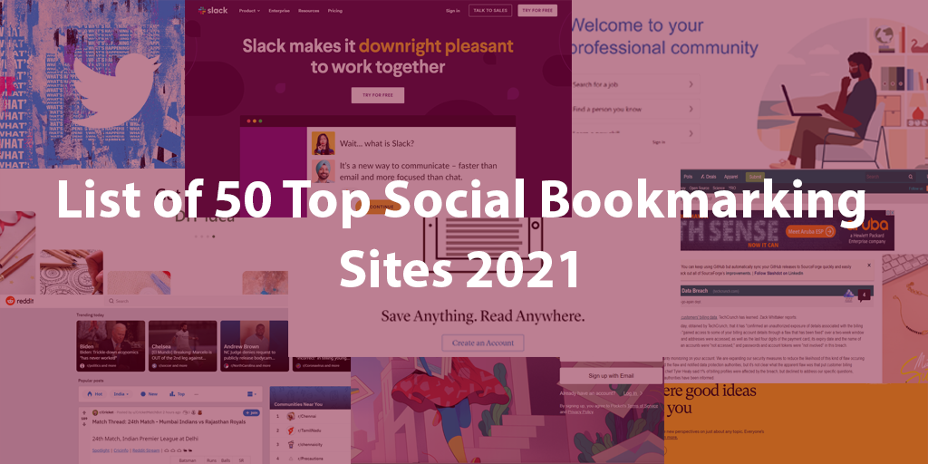 List of 50 Top Social Bookmarking Sites 2021