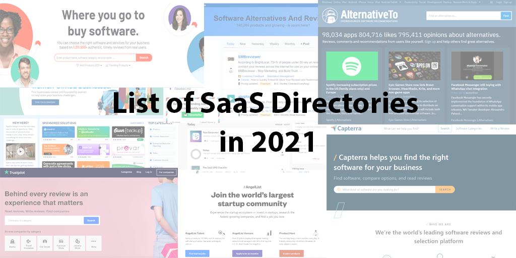 List of SaaS Directories in 2021