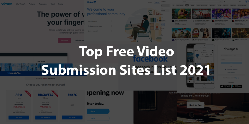 Top Free Video Submission Sites List 2021